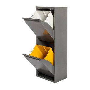 Armario Metalico Reciclagem 2 Gavetas Cinzento 92X35X25Cm