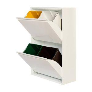 Armario Metalico Reciclagem 4 Gavetas Branco 92X60X25Cm