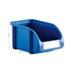 Caixa Contentora Empilhável 16X25X13Cm Titanium Azul Capacidade 5L
