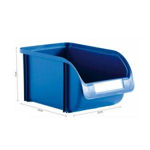 Caixa Contentora Empilhável 22X33X17Cm Titanium Azul Capacidade 12L