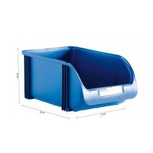 Caixa Contentora Empilhável 27X42X19Cm Titanium Azul Capacidade 20L