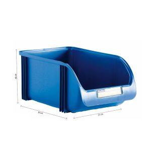 Caixa Contentora Empilhável 30X50X21Cm Titanium Azul Capacidade 30L