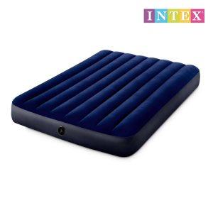 Colchão Insuflável 137X191X25Cm Azul Dura- Beam Standard Classic Downy Intex 64758