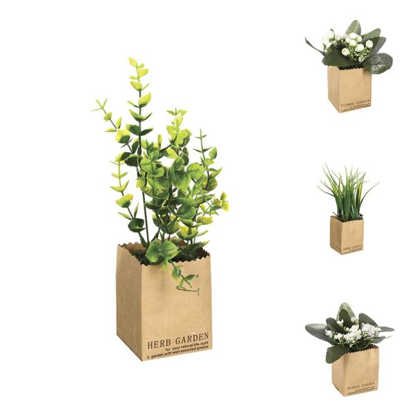 Planta Decorativa Com Vaso Papel  7X6