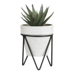 Planta Cato Em Vaso Metalico H19Xd6Cm