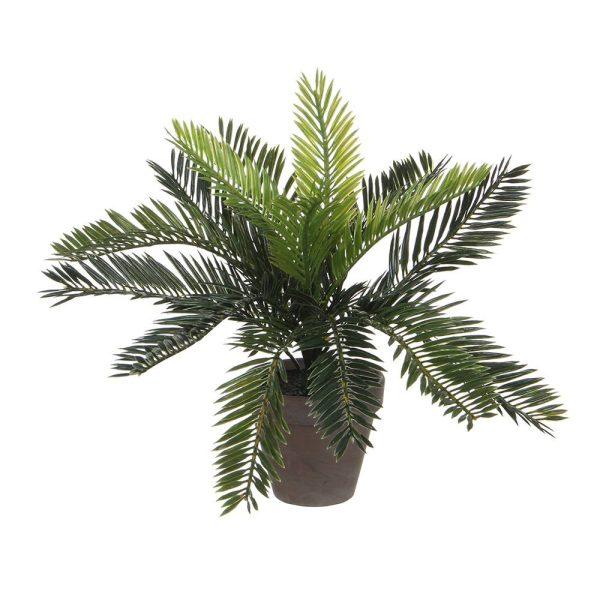 Palmeira (Sagu-De-Jardim) Pvc Com Vaso Cinzento 33X11.5Cm
