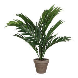 Palmeira Amarela Ou Areca Pvc Com Vaso Cinzento D11.5Cm-H45Xd60Cm