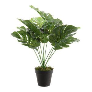 Planta Artificial Costela De Adão Com 10 Folhas 48Cm