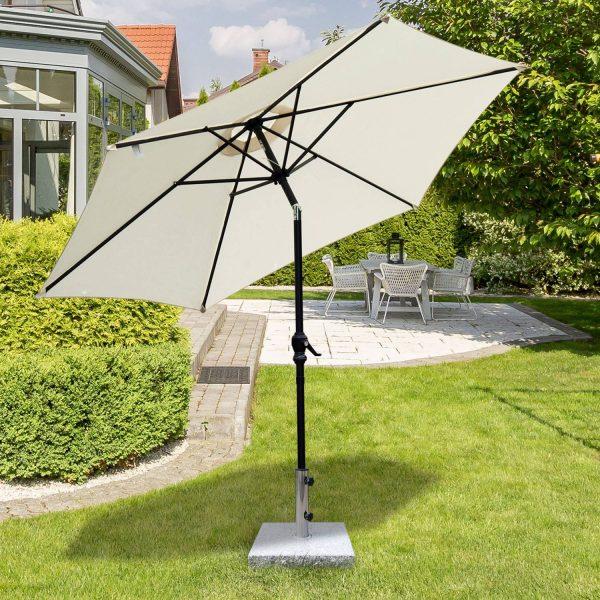 Base de guarda-sol para jardim de mármore com alça e rodas adequadas para vários guarda-sois