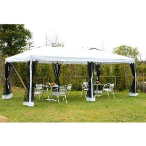 Tenda Dobrável com Rede mosquiteira Branca em - Aço e 210D Oxford  6 x 3 m
