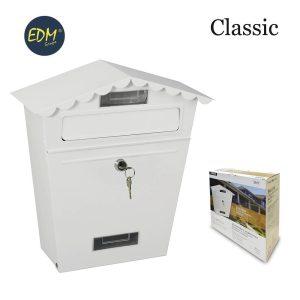Caixa De Correio Em Aço Modelo Classic Branco Medidas: 295X105X355Mm Inclui 2 Chaves E Parafusos Para Instalação