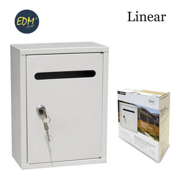 Caixa De Correio Em Aço Modelo Linear Branco Medidas: 200X75X260Mm Inclui 2 Chaves E Parafusos Para Instalação