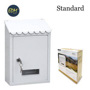 Caixa De Correio Em Aço Modelo Standard Em Branco Medidas: 210X60Mx300Mm Inclui 2 Chaves E Parafusos Para Instalação
