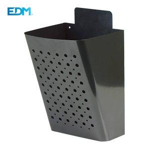 Caixa De Correio Para Publicidade Parede Cor Negro Aço Galvanizado 0.6Mm Revestido Em Pó 220X190X360Mm