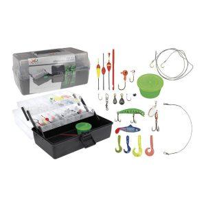 Caixa Com Acessórios Basicos De Pesca Medidas 300X187X147Mm