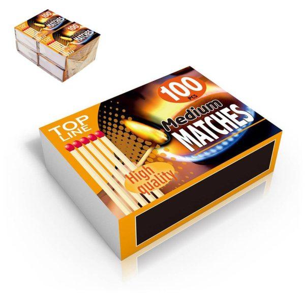 Pack De 4 Caixas De Fosforos (Caixa De 100 Unid)