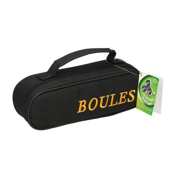 Kit De 3 Bolas Bocha Metalicas Com Bolsa De Transporte