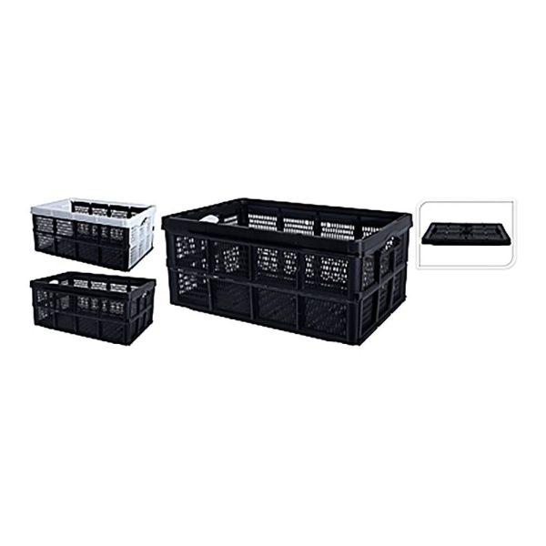 Caixa Multiusos Dobravel 60L Cores Branco O Preto 60X40X30Cm