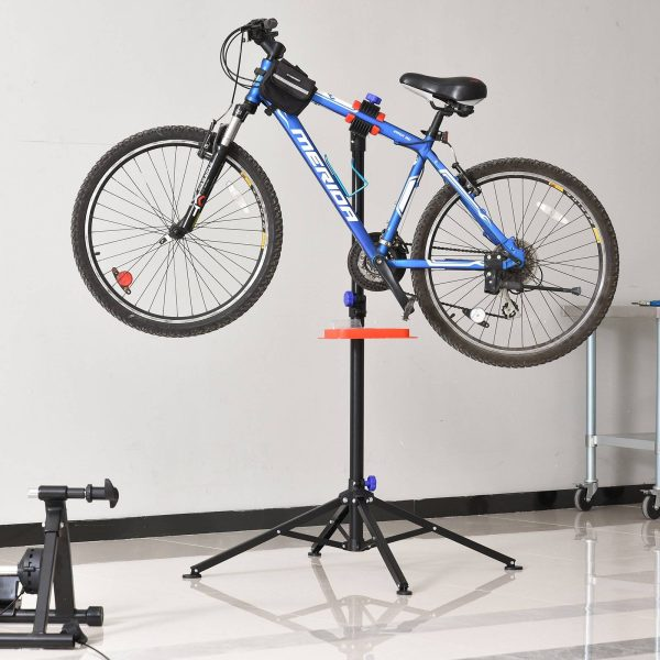 Suporte de Reparo de Bicicleta Dobrável Ajustável 110-180 cm com 4 Pernas Preto