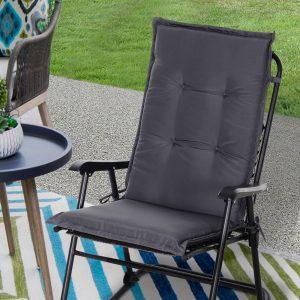 Almofada individual para espreguiçadeira ao ar livre Tapete da cadeira de jardim