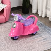 Andarilho de criança acima de 1 ano Função de luz música buzinha rosa