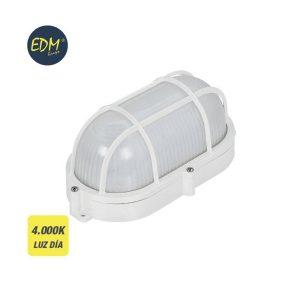 Aplique Oval Com Grade Para Exterior Led 9W 810 Lumens Ip65