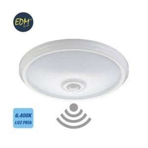 Aplique Plafon Com Sensor 16W 1100 Lumens 6.400K Luz Fria Me