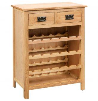 Armário para vinhos 72x32x90 cm madeira carvalho maciça