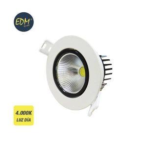 Aro Encastravel Branco Led 5W 4.000 K Luz Dia Edm. 400 Lume