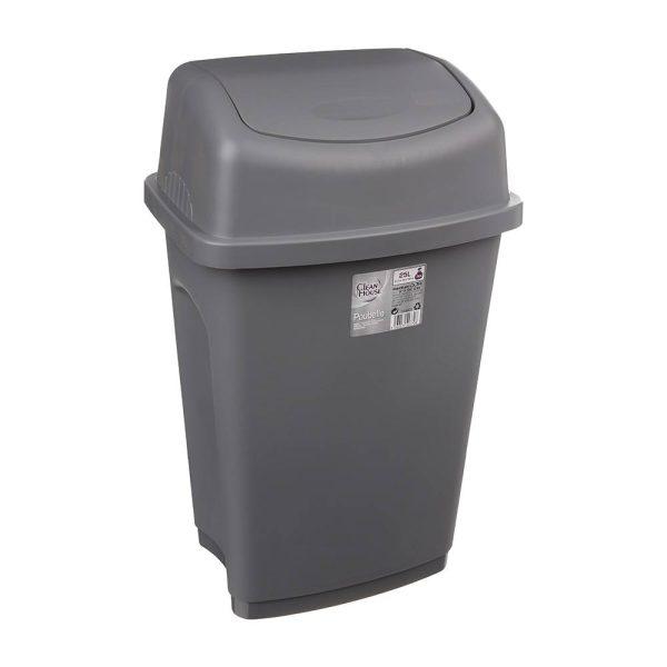 Balde Do Lixo 25L Cor Cinzento