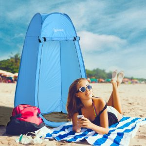Barraca de Acampamento 100x100x185 cm Instantâneo Tipo Carpa Trocador de Chuveiro Banheiro WC para Camping