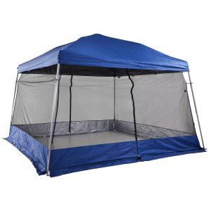 Barraca de acampamento dobrável Gazebo ao ar livre com rede mosquiteira