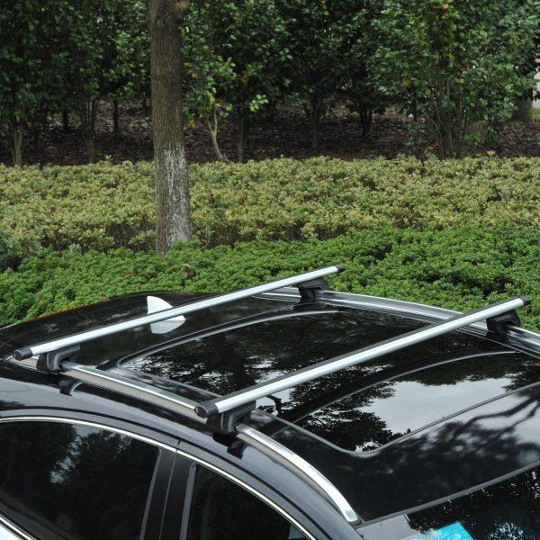 Barras de Carro Universal com Chave Alumínio Prata 135 cm