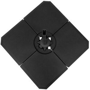Base de guarda-sol de 4 peças para Peso do medidor Suporte para Parasol do pátio