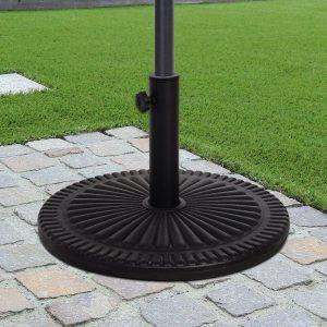 Base de guarda-sol para postes de diferentes diâmetros preto