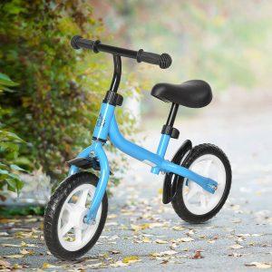 Bicicleta de equilíbrio infantil acima de 3 anos Altura ajustável 71x32x56 cm Azul