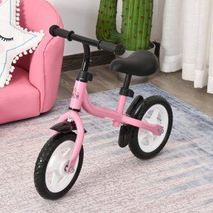 Bicicleta de equilíbrio infantil acima de 3 anos Altura ajustável 71x32x56 cm Rosa