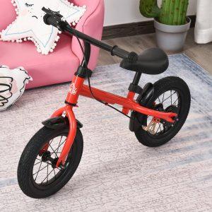 Bicicleta de equilíbrio para crianças acima de 3 anos ajustável com rodas de borracha 86x43x60 vermelho