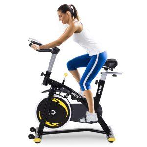Bicicleta de exercício de giro profissional Bicicleta de fitness com tela LCD 47x120x104