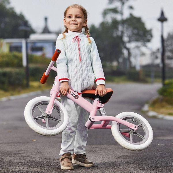 Bicicleta sem pedais para crianças acima de 2 anos para treinar equilíbrio 85x36x54 cm (CxLxA) rosa