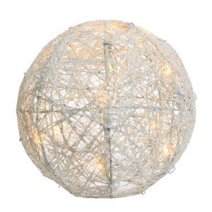 Bola Decorativa Branco Quente  20 Leds Com Acabado De Purpu