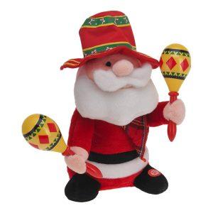 """Boneco Mariachi Pai Natal Dança E Canta """"Feliz Natal"""" (Em Es"""