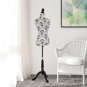 Busto de Senhora Manequim Feminino de Costura para Modistas Exposição Altura Ajustável a 130-168cm