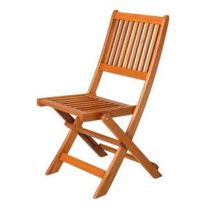 Cadeira Dobrável Shorea Madeira Natural 46 X 60 X 88