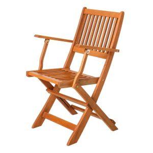 Cadeira Dobrável Shorea Madeira Natural 51 X 60 X 90 Cm