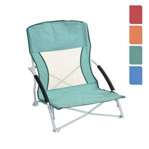 Cadeira Metálica Dobrável De Praia Cores Sortidas 42X78X16Cm