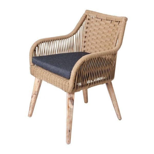Cadeira Nirit Corda-Madeira Bege 60 X 62 X 83 Cm