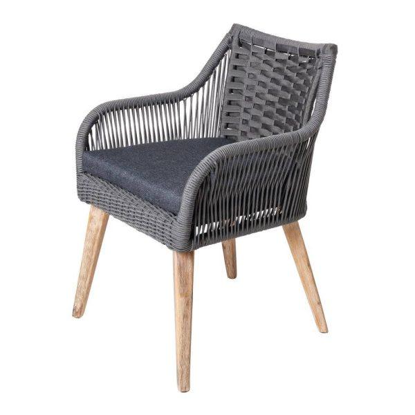 Cadeira Nirit Corda-Madeira Cinza 60 X 62 X 83 Cm