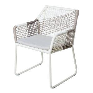 Cadeira Vivienne Pealuminio Cinza 60 X 61 X 80 Cm