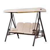 Cadeira-de-Balanço-Jardím-3-Lugares-com-Teto-Bandeja-para-Bebida-Açobr-Bege-120.5x207x174cm-1
